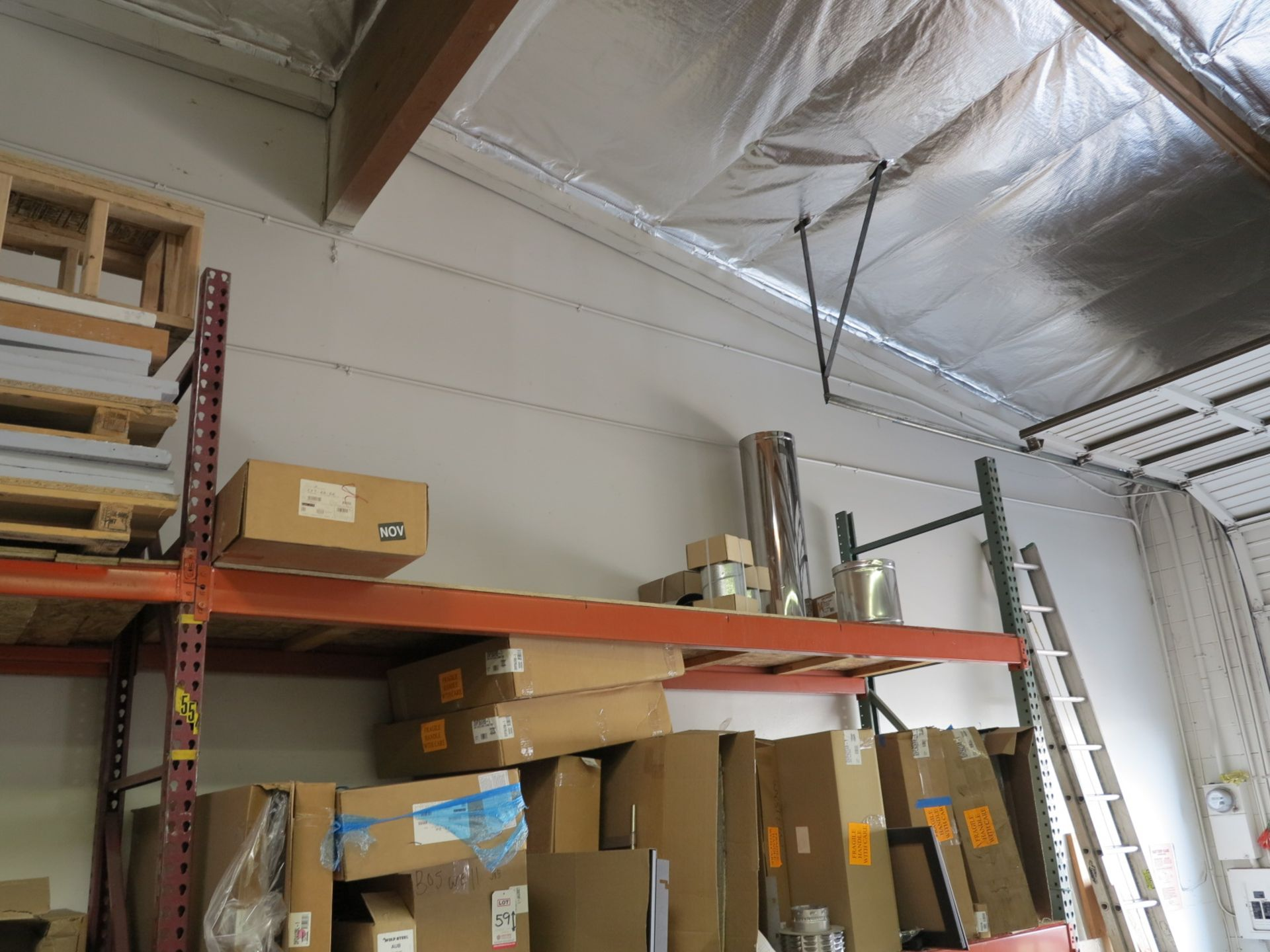 LOT - CONTENTS OF (1) SECTION OF PALLET RACKING, MISC STOVE PARTS - Image 3 of 3