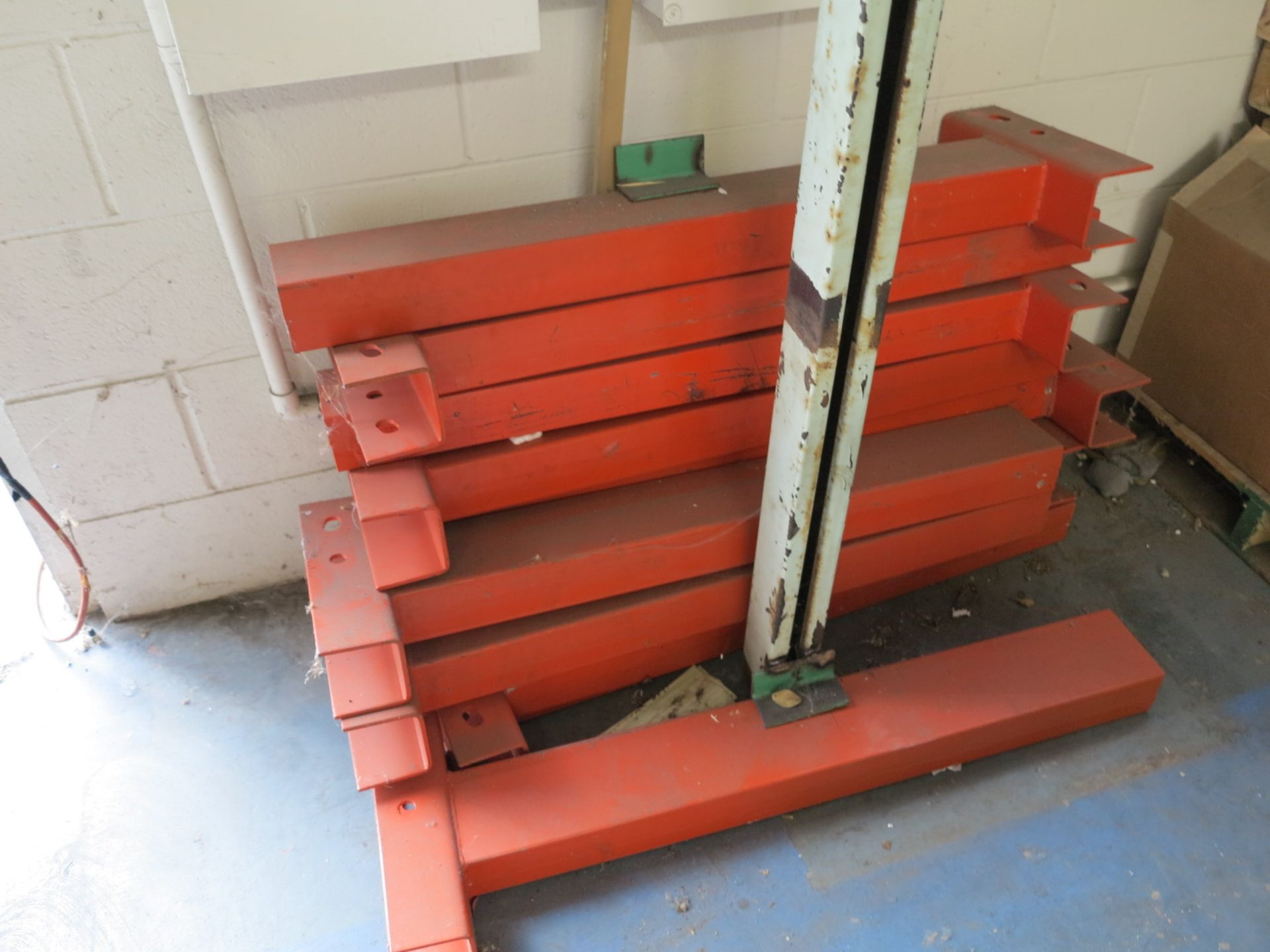 LOT - (1) SECTION OF CANTILEVER RACK, IN CORNER - Image 2 of 2
