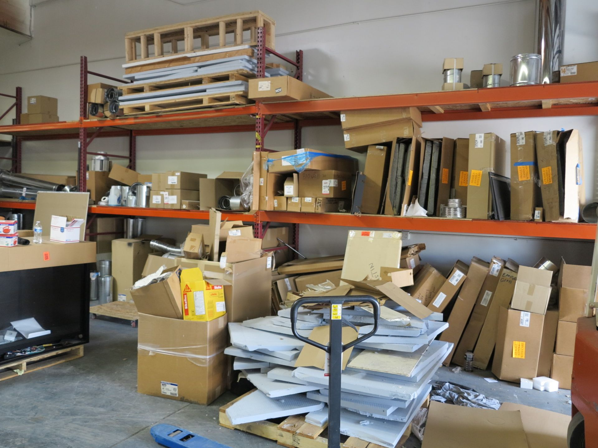 LOT - (5) SECTIONS OF PALLET RACKING, 9'-10' BEAMS, 12' UPRIGHTS, CONTENTS NOT INCLUDED - Image 2 of 2