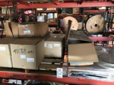 "LOT - (2) PALLETS ASSORTED PARTS, TO INCLUDE: 25' OF 20"" FLEX DUCT, FLANGES, 2-WAY CHAMBER, 14"""