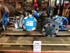 "LOT - (3) OIC GATE VALVES: (2) 3"" AND (1) 4"" W/ (1) KUNKLE 2 1/2"" SAFETY RELIEF VALVE 252FLJ22A8"