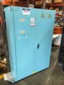 "JUSTRITE 45 GALLON 2-DOOR FLAMMABLE LIQUIDS STORAGE CABINET, 43"" X 67"" X 18"" DEEP"