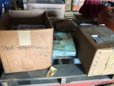 LOT - PALLET OF ASSORTED NUCLEAR PARTS, TO INCLUDE: BUSTER PUMP RELIEF VALVE, REHEAT VALVE SPACER,