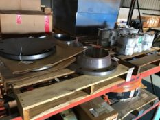 "LOT - (2) PALLETS ASSORTED NUCLEAR PARTS, TO INCLUDE: (2) 14"" WELD NECK RING FLANGE AND (2) 14"" SLIP"