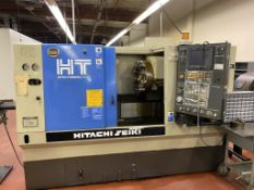 "1997 HITACHI SEIKI HT20J SUPER PRODUCTION CELL, SEICOS LY CNC CONTROL, 8"" CHUCK, TAILSTOCK, MAYFRAN"