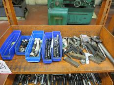 LOT - CONTENTS ONLY OF (1) SHELF: MISC LATHE TOOLING
