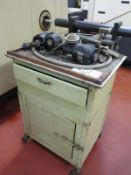 LOT - WORKTOP CART, W/ CONTENTS ON TO AND INSIDE, TO INCLUDE: MISC MACHINE PARTS