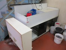 "LARGE INDUSTRIAL SINK CABINET, MADE OF 1/2"" THICK PLASTIC SHEET"