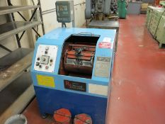 RICHWOOD INDUSTRIES CONTROLLED VELOCITY FINISHING MACHINE, MEDIA TUMBLER, MODEL CV-600, S/N 9201051
