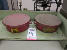 LOT - (2) SAFETY BENCH CANS/PARTS WASHERS, 1/2-GALLON