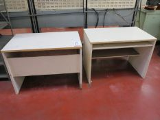 LOT - (2) WOOD TABLES