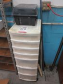 LOT - (2) PLASTIC STORAGE CONTAINERS