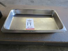 LOT - (3) STAINLESS STEEL PANS