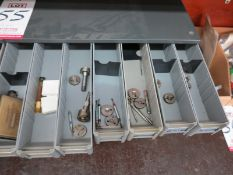 LOT - (2) BINS OF THREAD GAUGES AND THREAD RINGS