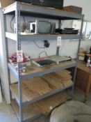 """LOT - (2) SHELF UNITS: (1) 4' X 2' X 6' TALL AND (1) 6' X 2' X 34"""" TALL; CONTENTS NOT INCLUDED"""