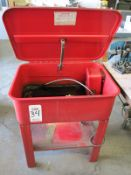 """FULL SIZE PARTS WASHER, 30"""" X 22"""" X 34"""" TALL, W/ PUMP AND HOSES"""