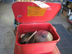 """SMALL PARTS WASHER, 18"""" X 14"""" X 9"""", W/ PUMP AND HOSE"""