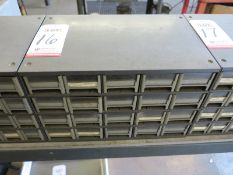 20-DRAWER PARTS BIN, W/ CONTENTS: ELECTRONIC PARTS