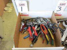 LOT - ASSORTED PLIERS, SNIPS, VISE GRIPS