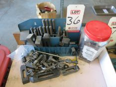 LOT - HOLD DOWN CLAMP AND RELATED ITEMS