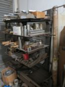 LOT - (2) CANTILEVER RACKS: (1) DOUBLE SIDED AND (1) SINGLE SIDE, CONTENTS NOT INCLUDED