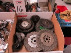 LOT - ASSORTED WIRE BRUSH WHEELS