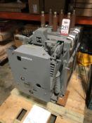 GENERAL ELECTRIC MANGE-BLAST CIRCUIT BREAKER, TYPE AM-4.16-250-9H CIRCUIT BREAKER, 4.76 KV, 1200 AMP
