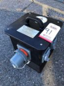 POWER TEMP SYSTEMS INC. POWER-QUBE SERIES 60A POWER DISTRIBUTION BOX OUTLETS, MODEL PQ601PHSO, W/ (