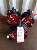 LOT - (3) AKRON BRASS COMPANY PORTABLE ELECTRIC CORD REELS, 125 VOLT, 15 AMP MAX (LOCATION: FLEX