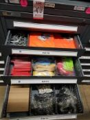 LOT - CONTENTS ONLY OF (5) VIDMAR CABINETS, CONSISTING OF ASSORTED 2500 LB CAP ROUND BASE HOIST