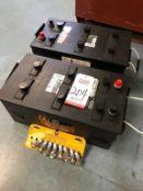 LOT - (2) NAPA MODEL 7271 WET COMMERCIAL BATTERIES, 1400 AMP (LOCATION: WAREHOUSE)