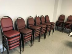 LOT - (45) PADDED STACKING CHAIRS