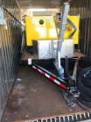12' STAKESIDE FLATBED UTILITY TRAILER, WOOD DECK, DROP GATE, DUAL AXLE, 20.5 X 8 X 10 TIRES,
