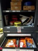 LOT - CONTENTS ONLY OF (2) VIDMAR CABINETS, CONSISTING OF ASSORTED OPERATION LIGHT BULBS, SAFETY