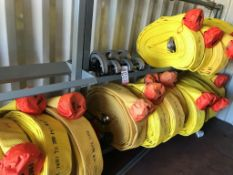 "LOT - (18) 5"" X 100' FIRE HOSES (LOCATION: FLEX CONTAINER)"