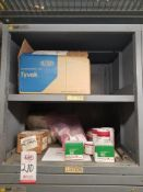 LOT - CONTENTS ONLY OF (16) VIDMAR CABINETS, CONSISTING OF ASSORTED HARDWARE, GASKETS, ELECTRICAL