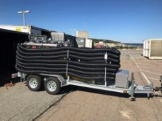 """WATER STRAINER TRAILER, W/ 400 GPM 1/8"""" STRAINERS DUAL TRAIN 5"""" STORZ INLET & OUTLET CONNECTIONS, ("""