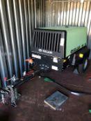 SULLAIR 49 HP PORTABLE AIR COMPRESSOR, MODEL 49HP185DPQ CAI4 EPA, W/ JOHN DEERE 2.4 L DIESEL ENGINE,