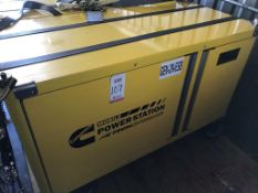 CUMMINS MOBILE DIESEL GENERATOR, MODEL 7.5HDKAT-41934R, 120 VOLT, SINGLE PHASE, TAG # X-1020F