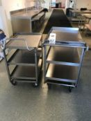 LOT - (2) ASSORTED STAINLESS STEEL CARTS