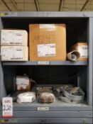 LOT - CONTENTS ONLY OF (9) VIDMAR CABINETS, CONSISTING OF ASSORTED HARDWARE, ELECTRICAL SWITCHES &