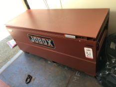 "JOBOX, MODEL 1-655990, 60"" X 24"" X 24"" DEEP, W/ CONTENTS: PPE, PLASTIC GAS CONTAINERS, ETC. ("