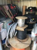 LOT - ASSORTED ELECTRICAL WIRE/CABLE, TRANSFORMER, ETC. (LOCATION: FLEX CONTAINER)