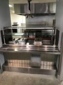 """72"""" STAINLESS STEEL 4-PAN FOOD SERVICE TABLE, W/ (2) DUNHILL REFRIGERATED PANS AND (2) STEAM TABLE"""