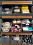 LOT - CONTENTS ONLY OF (17) VIDMAR CABINETS, CONSISTING OF ASSORTED HARDWARE, ELECTRICAL