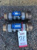 """LOT - (2) GPI MODEL S20N TURBINE ELECTRONIC FLOW METERS, W/ 2"""" NPT FEMALE"""