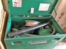 GREENLEE MOBILE TOOL CHEST, MODEL 3048/23362, W/ CONTENTS: ULTRA TUGGER CABLE PULLER TOOLING,