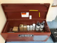 """JOBOX TOOL CHEST, MODEL 1-655990, 60"""" X 24"""" X 22"""" DEEP, W/ CONTENTS: ASSORTED FILTERS (LOCATION:"""