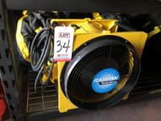 "RAMFAN TURBO FORCE 16"" VENTILATOR FAN, MODEL EFI150, 115/230 VOLT, 1-1/2 HP, W/ (2) 16"" X 25' FLEX"