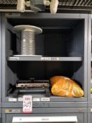 LOT - CONTENTS ONLY OF (5) VIDMAR CABINETS, CONSISTING OF ASSORTED C-CLAMPS, PPE, HARDWARE, V-BELTS,